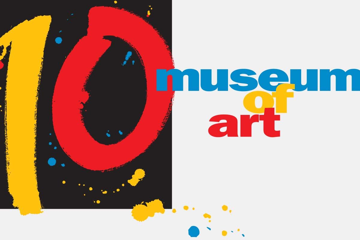 10-year anniversary branding for the Museum of Art Fort Lauderdale, now the NSU Art Museum Fort Lauderdale.